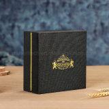 Estampación en caliente de color negro Caja de regalo de cartón personalizadas