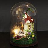 De houten Miniatuur Met de hand gemaakte Gift van Huizen met Onderwijs