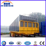 40FT 3 scanner à plat pont semi remorque de camion ou plate-forme semi-remorque