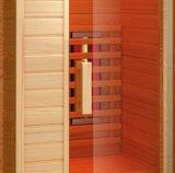 アメリカツガの木製のサウナの小屋、1550W赤いガラスヒーター、シャワーの小屋(K9766)