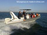 Liya 6.6mの(a)贅沢な肋骨のボートのガラス繊維の堅く膨脹可能なボート