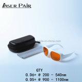 vidros de segurança do laser 532nm&1064nm e óculos de proteção para a remoção do tatuagem, laser da dermatologia, Ktp, ND: YAG com cor branca