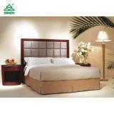 Hölzerne Ende-Hotel-Schlafzimmer-Möbel mit roten Gewebe-Wagen-Aufenthaltsräumen