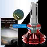 Lampadine cape automatiche bianche eccellenti del faro della lampada della testa dell'indicatore luminoso dell'automobile dell'indicatore luminoso X3 H4 H7 H11 9006 LED delle lampade 6500K 8000lm