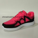 분홍색 색깔에 있는 스포츠 단화를 달리는 형식 숙녀의 운동화