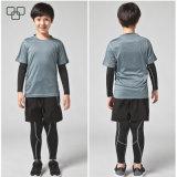 T-shirt 100% court Supreme de sport de chemise de 2017 de T-shirt garçons en gros de coton