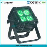 屋外DMX 4X15W Ostar RGBWの同価LEDの平らな点ライト