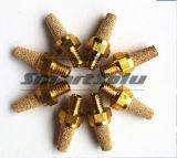 Silenciador de cobre amarillo del latón del silenciador del silenciador del silenciador de cobre neumático del cobre