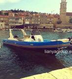 Liya 7,5 m pequeno costela de cabina barco inflável de fibra de barco a venda
