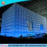 Windows와 LED 빛을%s 가진 팽창식 무역 박람회 사각 천막