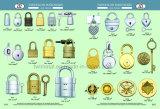 Usine de sacs de métal Diret serrures avec clé