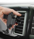Sostenedor del montaje de la salida de aire del sostenedor del teléfono móvil del coche de la gravedad universal para el iPhone Samsung