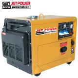 5kw 6.5kVA 5kVA Groupe électrogène Diesel silencieux à démarrage électrique avec des roues