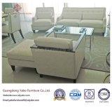 Mobilia dell'hotel con il tavolino da salotto di vetro di tempera semplice (7898)