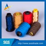 Hilo de coser hecho girar alta calidad del bordado multicolor de la tela del poliester