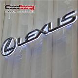 Il segno su ordinazione 3D dell'indicatore luminoso al neon del segno modellato firma il marchio dell'automobile