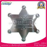 hecho personalizado insignia del Sheriff de Metal Gold Star