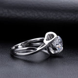 Eenvoudige en Klassieke Ronde 2 Geplateerde Zilveren Juwelen