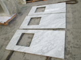 Белые мраморные Counrtertop Cararra Кухонные мойки рабочую поверхность верхней панели