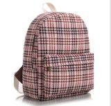 Sac à dos de type d'impression floral, sac de loisirs de vent d'université de sac à dos de série de vérifications de Pin