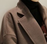 Desgaste externo de la alta de las señoras de las lanas capa superior del invierno