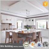 Gabinete de cozinha de madeira da cereja 2017 cinzenta branca