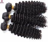 Onda profunda del pelo brasileño de la Virgen de las extensiones del pelo humano del 100%
