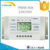 40A 12V/24V USB-5V chargeant le contrôleur solaire T40 de chargeur de syndicat de prix ferme