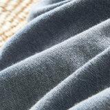 Biancheria da letto tinta blu dell'hotel di prezzi bassi del filo di cotone