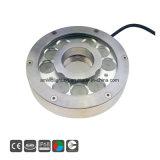 9X3w Piscina IP68, bajo el agua fuente de luz de lámpara de LED