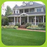 W Shape relva artificial para decoração 40mm Erva de Jardim