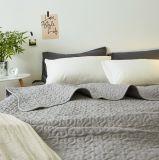 Edredón acolchado gris 100% del algodón del estilo americano para los lechos