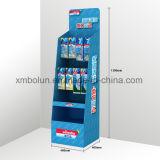 Impresión del estallido que hace publicidad del soporte de visualización de la cartulina del suelo para las bebidas del supermercado