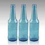 330mlの淡いブルーの物質的なガラスビール瓶のカスタマイズ