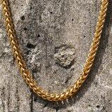 L'or Franco des hommes 14K enchaîne le collier pour les hommes Mjcn050