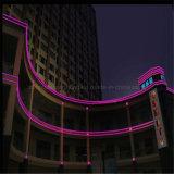 120LEDs/M SMD2835 책상을%s 분홍색 네온 교차하는 빛 LED 코드 네온 등