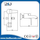 Miscelatore d'ottone del bagno del bicromato di potassio fissato al muro con il separatore d'ottone