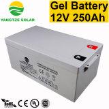 12V 250Ah haute capacité de l'onduleur solaire en cellule sèche Batterie au gel à cycle profond