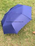 End-Year Cadeaux 3 parapluie plié avec manuel ouvert, poignée en caoutchouc (BR-FU-402)