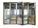 Portello Bi-Fold di alluminio della rottura termica dei cinque comitati