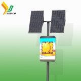 Quadro de avisos de anúncio solar impermeável ao ar livre do diodo emissor de luz