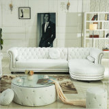 أصليّة [إيتلين] جلد أريكة في أثر قديم [تن]