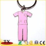 Catena chiave del metallo della maglietta di figura dei vestiti