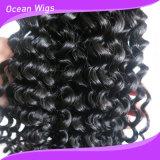 Cabelo humano brasileiro da onda Kinky da cor de Ombre do preço de grosso que denomina o cabelo de Aliexpress