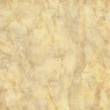 mattonelle di pavimento Polished della porcellana di colore 60X60 del reticolo giallo su lucido del marmo