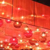 Retangular 복도에 주문 현대 Ribboned 유리제 공 그리고 직물 그늘 LED 샹들리에