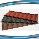 Tuile de toiture enduite en métal de pierre noire de charbon de bois