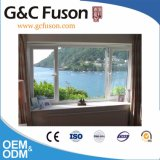 Окно среднего восточного стандартного цвета вишни деревянного двойного алюминиевое
