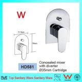 Het Opzetten van de Muur van het watermerk de Sanitaire Waren van de Mixer van de Afleider van de Douche van het Messing (HD581)