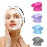 Eléctrica de silicona resistente al agua cara Facial Limpiador de poros claro recargable cepillo masajeador Exfoliator Ultrasonidos